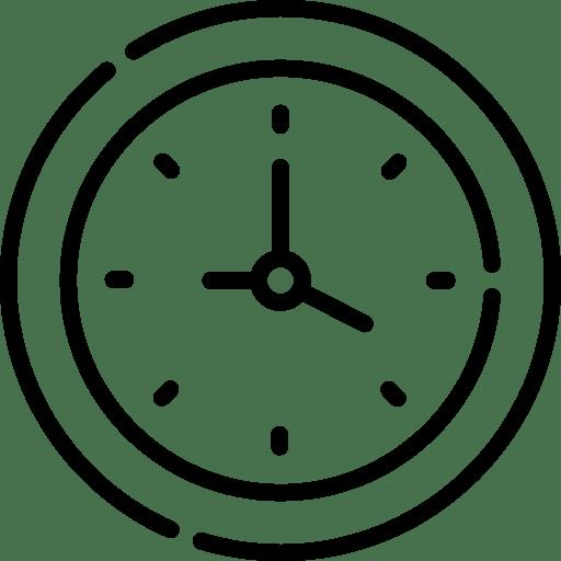 Uhr aus Moos