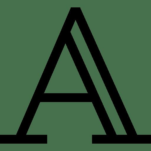 Piktogramme und Buchstaben